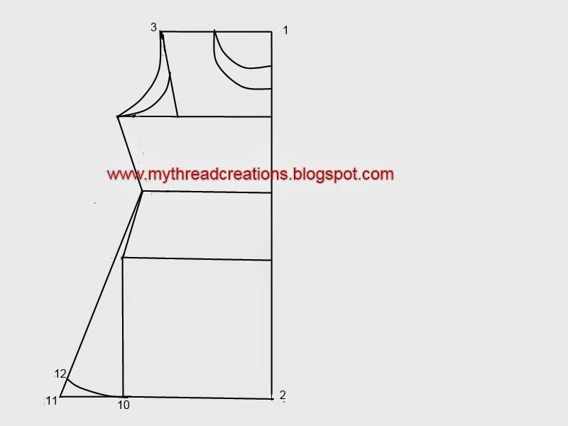 A line kurti /kameez sewing tutorial