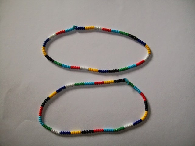 beaded anklet tutorial
