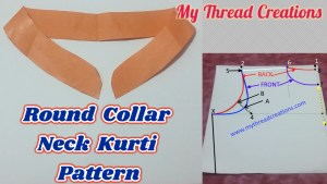 Round Collar Neck Kurti, Round Collar Pattern Making In Simple Method