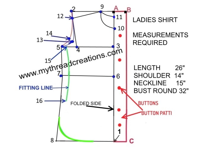 how to cut and sew a female shirt