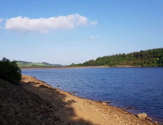 An image looking down Langsett Reservoir, South Yorkshire