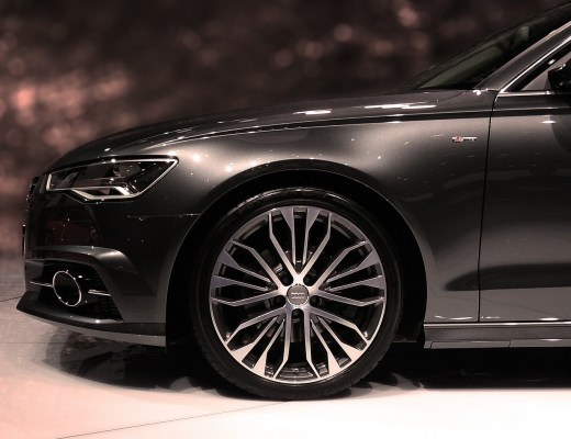 a brand new Audi in a showroom