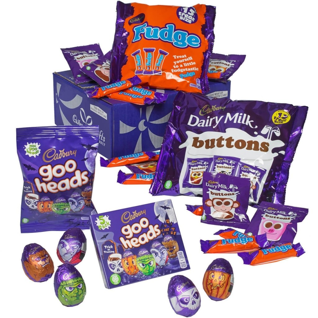 Cadbury Halloween gift box contents