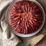 Polenta Plum Upside Down Cake