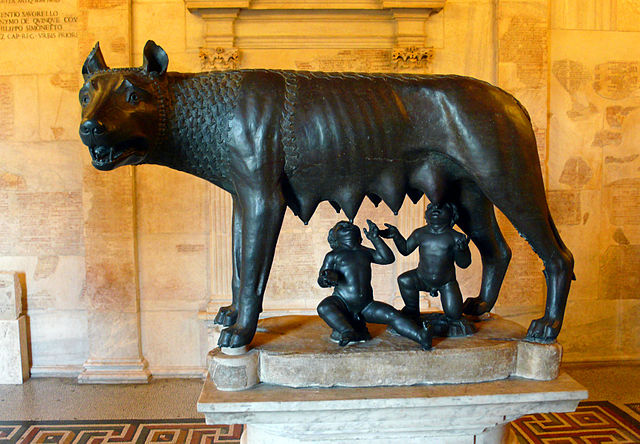 Capitoline She-wolf of Rome, public domain.