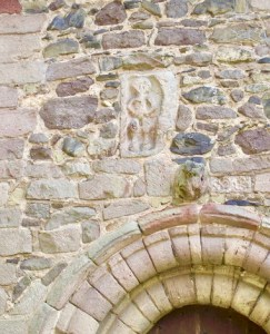 sheela-na-gig, Church Stretton, above the north doorway. Anthony Vosper CC-SA2.