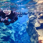 Snorkelling/Diving between the Tectonic Plates in Silfra, Iceland
