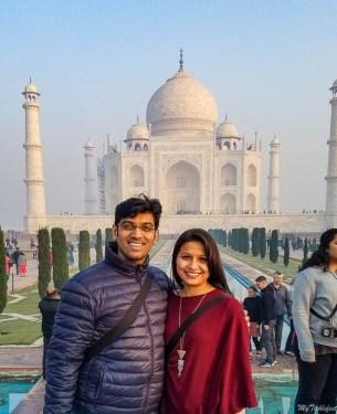 Seeing Taj Mahal at sunrise