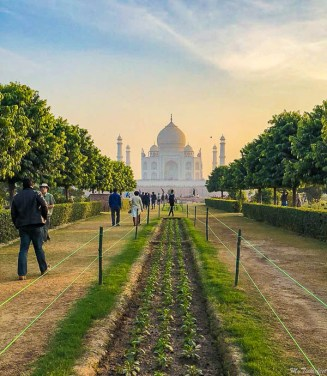 Best view of Taj Mahal from Mehtab Baag across the river