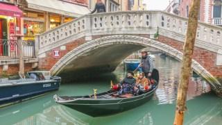 A romantice getaway in Venice on a gondola