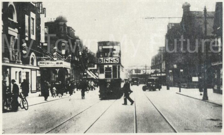 Tram on Linthorpe Road (1920)