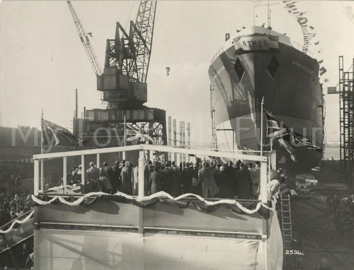 Smith's Dock Ships - Athelsultan - Launching 1951