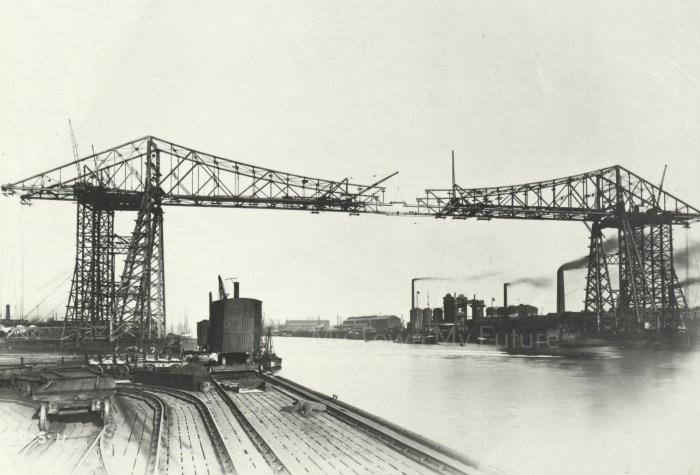 Transporter Bridge during construction