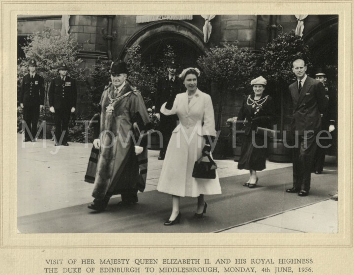 Visit of Queen Elizabeth & Duke Of Edinburgh (4 June 1956)