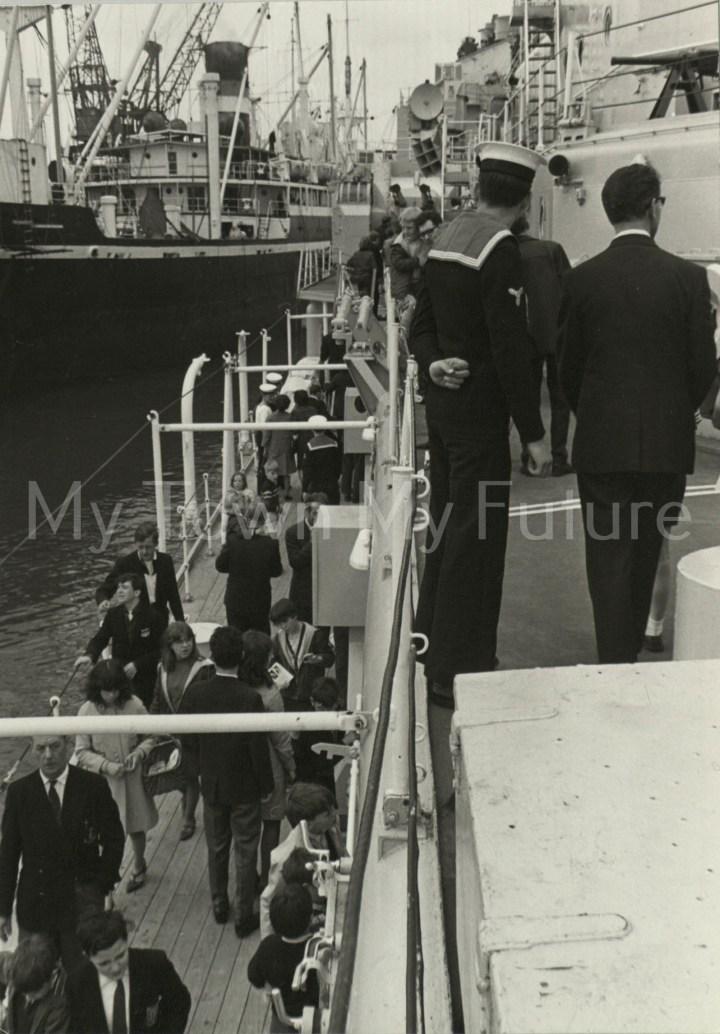 War Ships - HMS Tiger -Port Side,