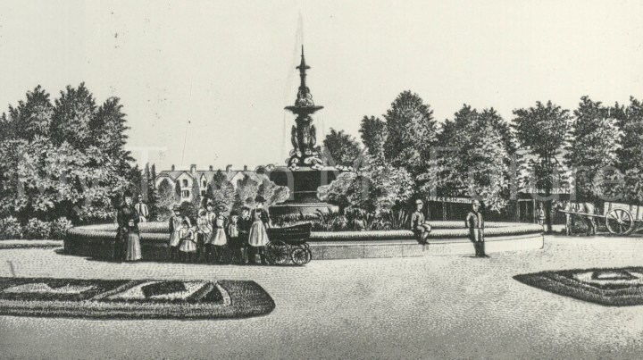 Albert Park - Fountain which was presented by Joseph Pease Esq. c1900s