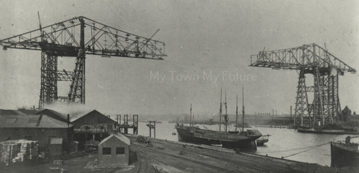 Transporter Bridge - Under Construction, 1911, Department of Planning - Cleveland County Council