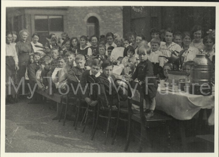 World War 1 - Peace Tea - Peace Celebrations - Garnet Street, 1919, Beamish Museum - Stanley