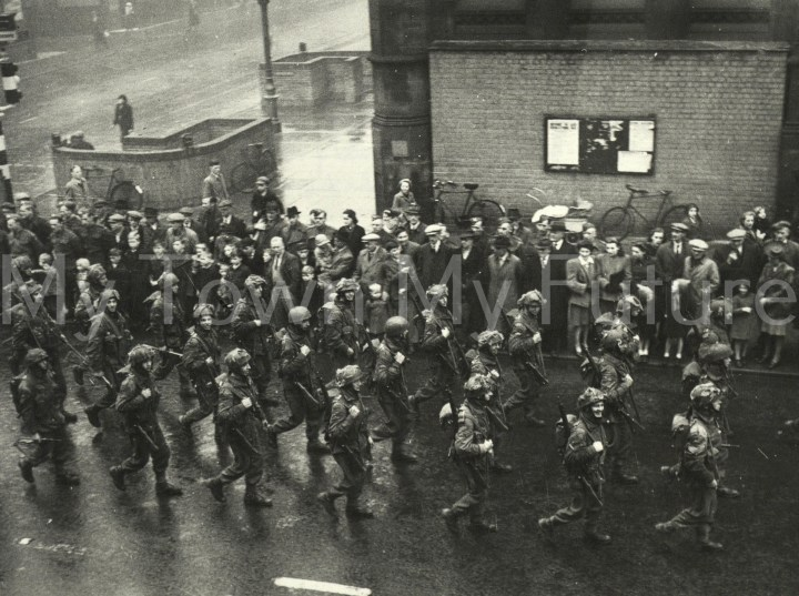 Military Personnel Home Guard and Airbourne Troops March 25th October 1943 After Battle Exercises Middlesbrough Area