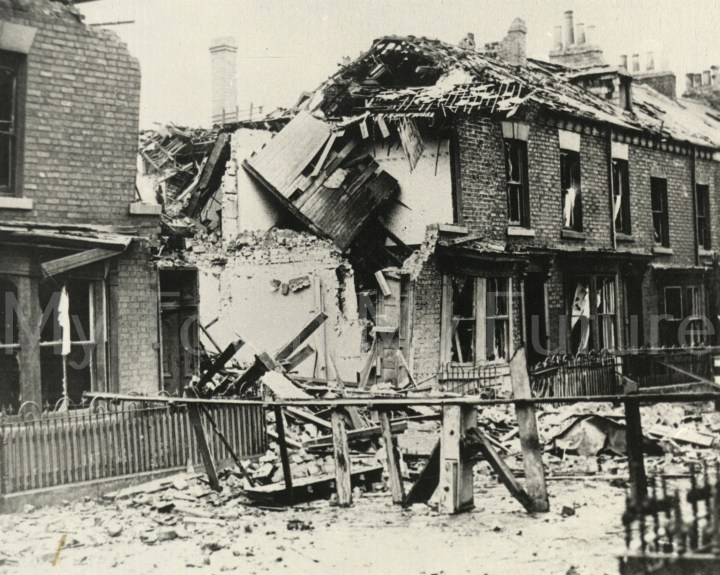 Bomb Damage to Bridgeford Terrace After raid of 19th-20th June 1940
