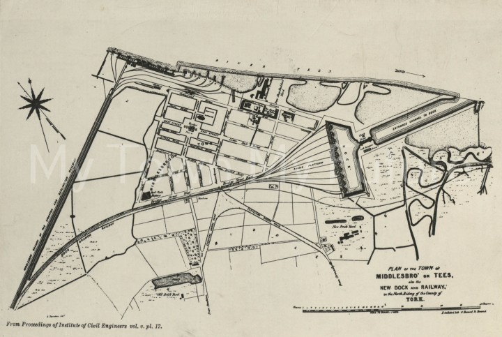 Map Of Middlesbrough 1846