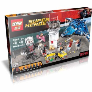 Free Shipping Super Heroes Airport Battle Quinjet Ant-Man Winter Soldier Building Set Minifigures <font><b>Blocks</b></font> Compatible