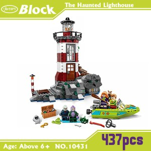 ATOY 10431 Toys 437pcs Scooby Doo The Haunted Lighthouse <font><b>Blocks</b></font> Minifigures Building <font><b>Block</b></font> Minifigure Toys with kids gift
