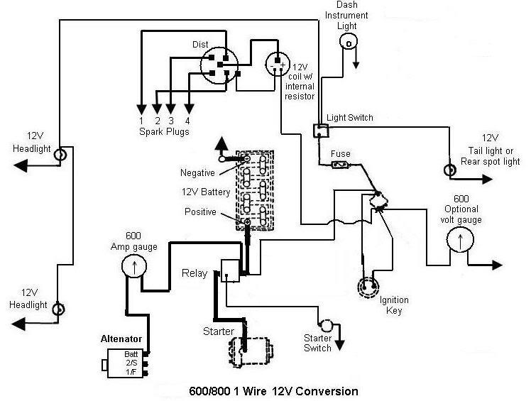 12 Volt Tractor Wiring Diagram