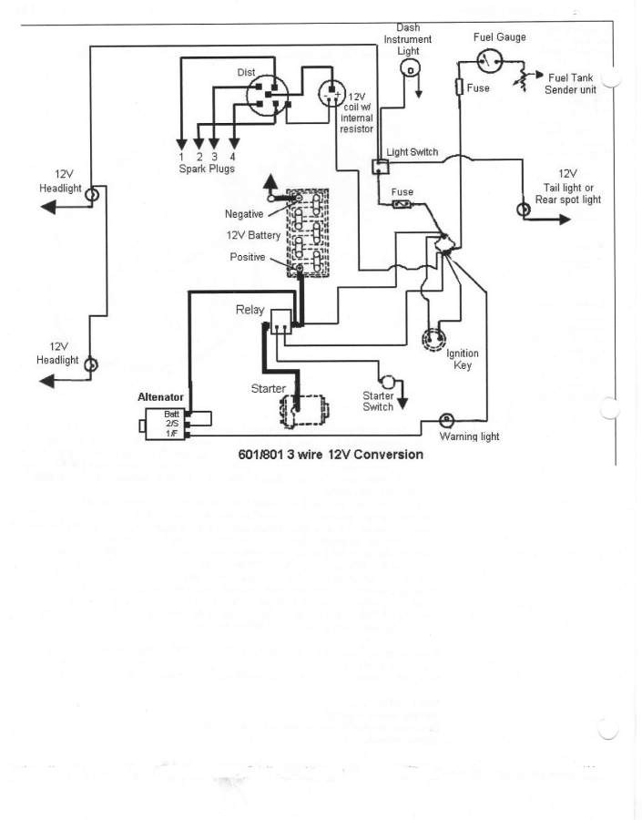 Ford Tractor 6 Volt To 12 Volt Conversion Wiring Diagram