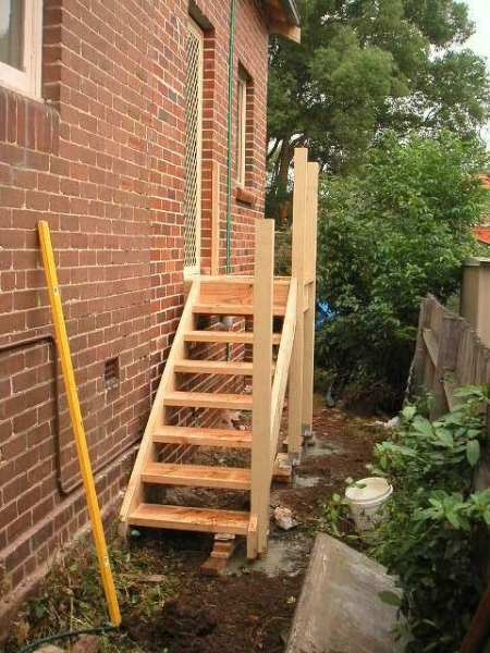 Coffs Harbour outdoor timber stairs staircase Treated pine