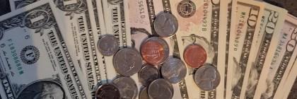 Bargeld oder Kreditkarte