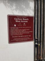 Weg zum Carbon Beach