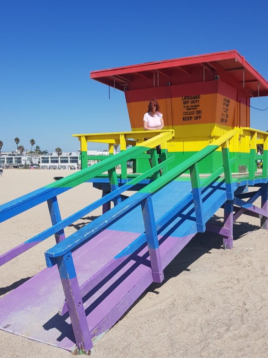 Pride Flag Lifeguard Tower