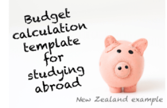Study abroad calculation template_EXAMPLE NZ