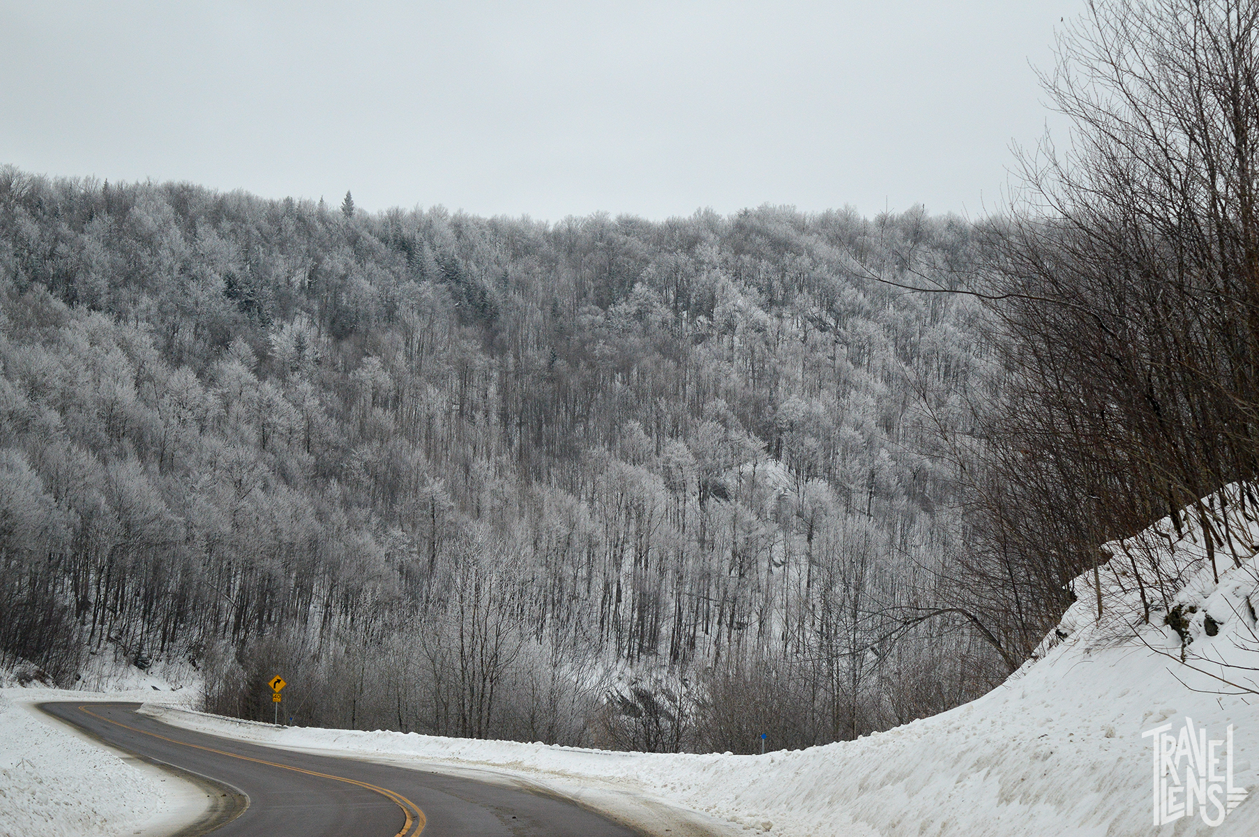 Windy Winter Roads in Jay, Vermont