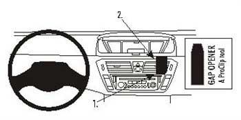 Staffa di montaggio per Citroen C4 Picasso