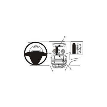 Staffa di Montaggio ProClip Brodit per Citroen C2/C3/Pluriel
