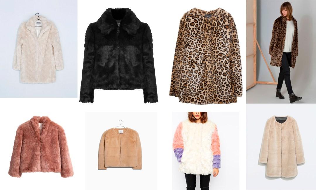 Tendencias de temporada abrigo peludo tiendas