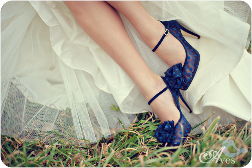 Wedding Window Blue Shoes