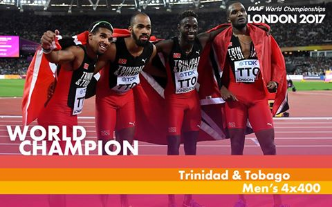 Trinidad and Tobago win Men's 4x400 IAAF World  Final 2017