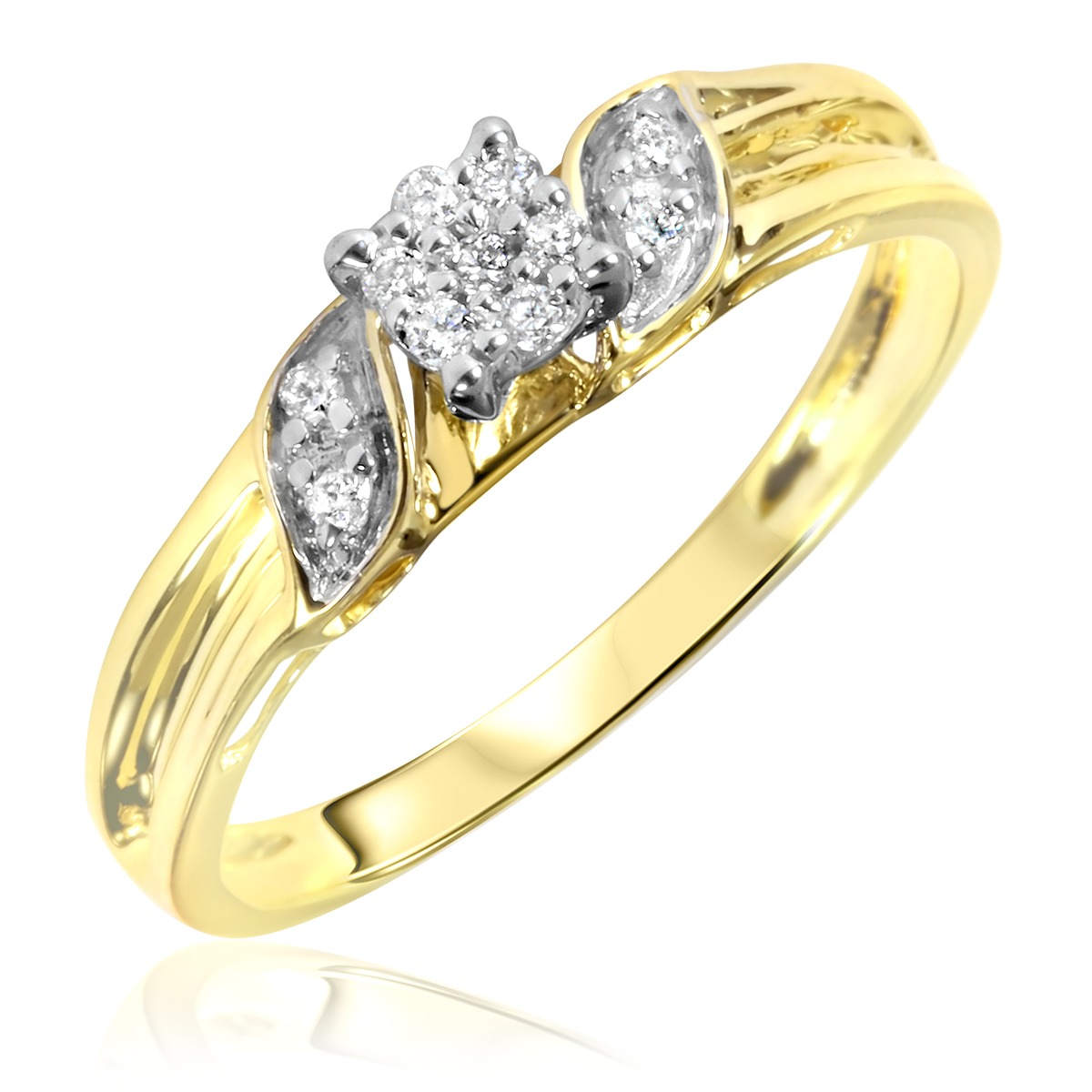 1/10 Carat T.W. Diamond Women's Engagement Ring 10K Yellow