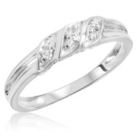 1/15 Carat T.W. Diamond Women's Wedding Ring 14K White