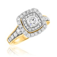1 1/2 Carat T.W. Round Cut Diamond Ladies Engagement Ring ...