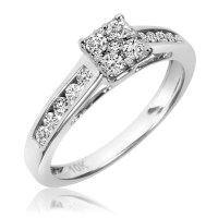 1/2 Carat T.W. Diamond Ladies' Engagement Ring 14K White