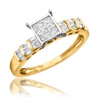 1/2 Carat T.W. Diamond Ladies' Engagement Ring 14K Yellow ...