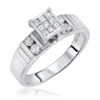 1/2 Carat T.W. Diamond Women's Engagement Ring 14K White