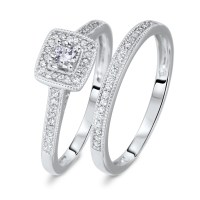1/3 CT. T.W. Round Cut Diamond Ladies Bridal Wedding Ring ...