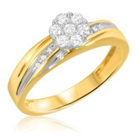 1/4 Carat T.W. Diamond Ladies' Engagement Ring 14K Yellow