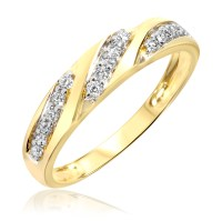 1/4 Carat T.W. Diamond Women's Wedding Ring 14K Yellow