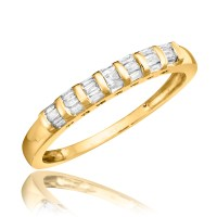 1 Carat Diamond Trio Wedding Ring Set 14K Yellow Gold | My ...